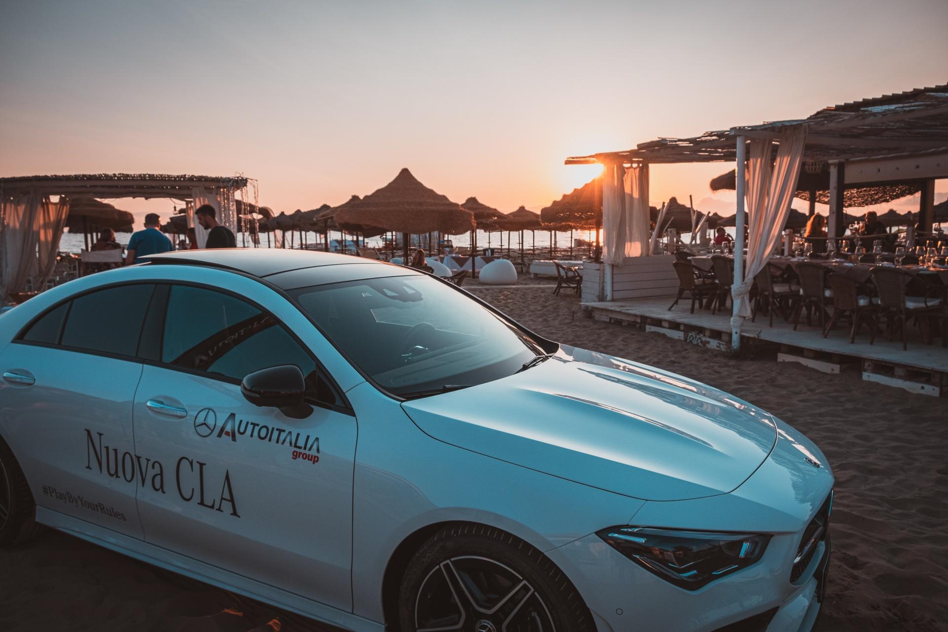 Mercedes-Benz CLA --> Summer event for La Siesta Beach, Evento in collaborazione con La Siesta Beach per la presentazione della Nuova Mercedes-Benz CLA