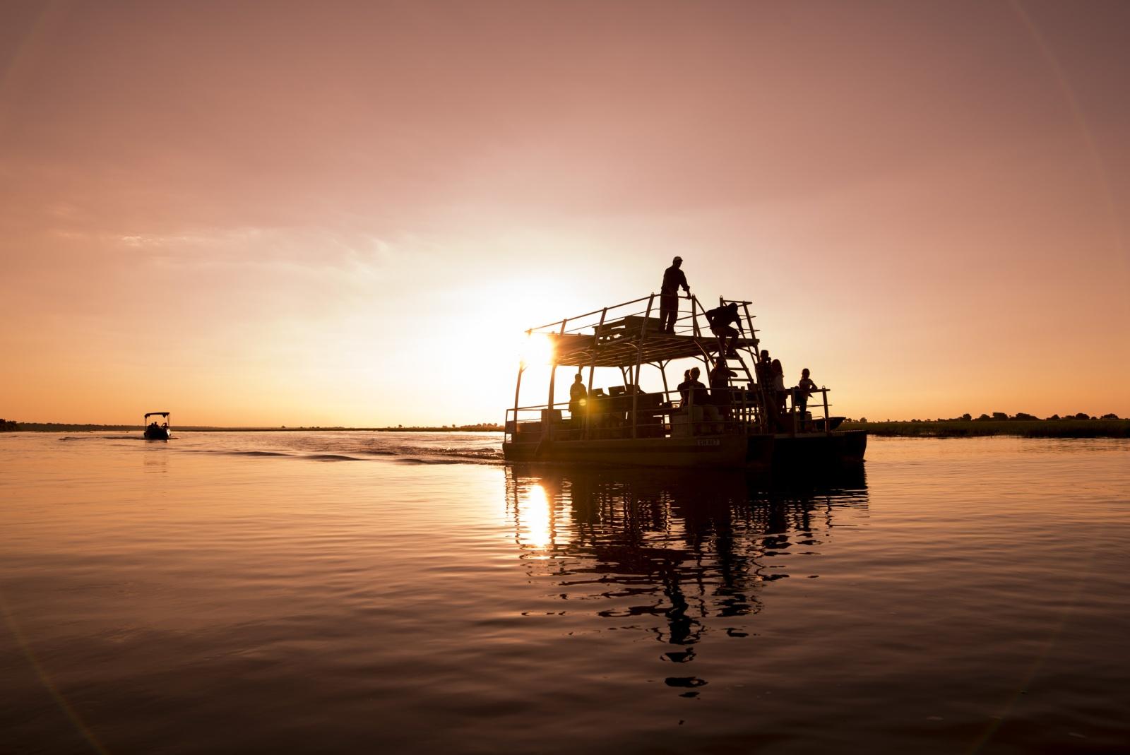 Kasane. Botswana. Da una piccola imbarcazione